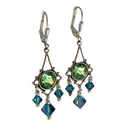 Boho Vintage Style Crystal Chandelier Earrings for Women Jewelry Gift for Her $27.97