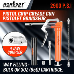 Mini Grease Gun Pistol Grip w 3 oz Lubricating Cartridge Greas Lube Refillable