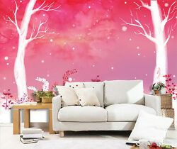 3D White tree 12 Wall Paper Wall Print Decal Wall Deco Indoor Wall Murals