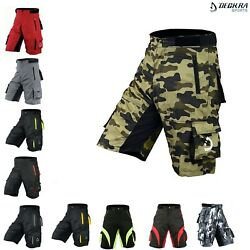 Deckra Mens Cycling MTB Short High Quality Padded Off Road Shorts Padded Liner $33.49