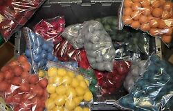 Huge lot wool felt balls for crafts crafting sewing etc..