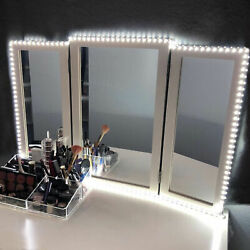 10FT White Dressing Mirror Lighted Cosmetic Makeup Vanity LED Light Remote Power $17.08