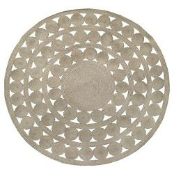 New! Round Outdoor Rug - Ornate Natural Woven - Threshold™ 100% Polypropylene