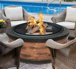 Fire Pits Outdoor Wood Burning Firepit Backyard Fireplace Patio Heater Fire Bowl