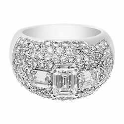 Ball of fire pave diamond Dome ring in 18k white gold