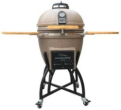 Kamado Ceramic Charcoal BBQ Smoker Grill Wood Pizza Bread Oven Outdoor Cooking