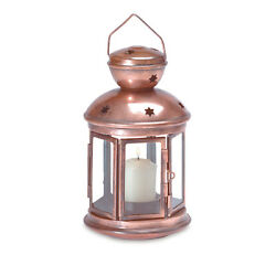 Colonial Candle Holder Lamp Bright Burnished Finish Metal Frame Hangs New