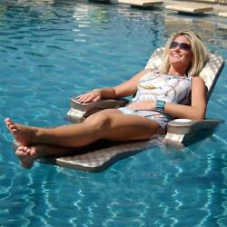 New Super Soft Baja II Bronze Folding Pool Lounge Cell Foam Water Chair Raft