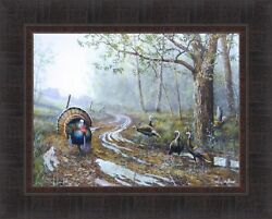 SPRING FEVER by Jim Hansel Turkey Tom Hen Turkeys Hunting 17x21 FRAMED WALL ART $35.95