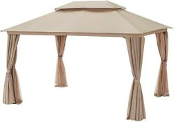 Gazebo With Double Top And Mosquito Netting Outdoor Patio Furniture Accessories