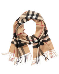 Burberry Womens  Classic Check & Hearts Cashmere Scarf
