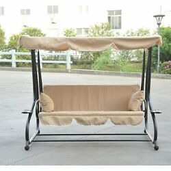 Patio Swing -  Bed  Yard Cover Garden Outdoor Furniture Frame Cup Holder Relax