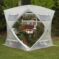 Greenhouse Kits Plastic Portable Flowerhouse Gardening Blooms Herbs Collapsable