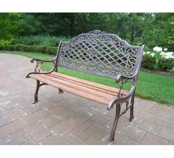 New 27 x 52 x 39 Durable Cast Iron Mississippi High Back Bench Antique Bronze