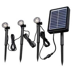 New! Kenroy Home Solar Deck Dock and Path Light - 3 light string Imported