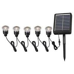 New! Kenroy Home Solar Deck Dock and Path Light 5 light string Plastic Imported