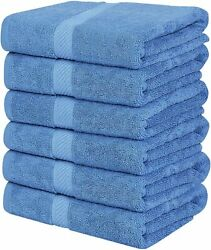Pack 6 Cotton Bath Towels 22x44 Inch Super Absorbent For Pool Spa Utopia Towels $23.99