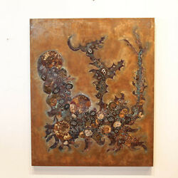 Steel Art Inlay with Minerals and Fossils