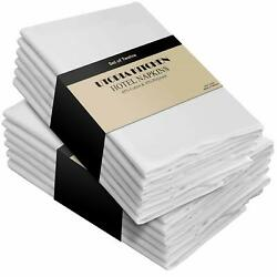 Pack of 12 Cotton Dinner Napkins Hotel Quality 18x18quot; Utopia Kitchen $13.99