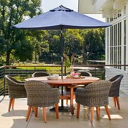 Guam 7-pc. Wood Patio Dining Set Maintain Color 29.06 inches W x 120.87 inches D