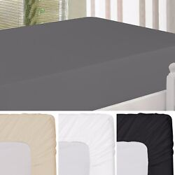Deep Pocket Fitted Sheet Easy Care Deep Pocket Bed Sheets Utopia Bedding $15.98