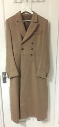 Alexander McQueen mens camel cashmere double breasted full coat RRP £1745.00