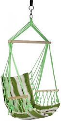 Hammock Hanging Chair 2.33 ft. w Armrests and Hammock Straps Patio Outdoor NEW
