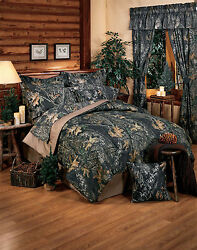 MOSSY OAK CAMO BEDDING - CAMOUFLAGE COMFORTER SET SKIRT SHAMS- QUEEN - KING