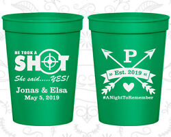Personalized Wedding Gift Cups Custom Cup (470) He Took A Shot She Said Yes