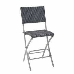 COSCO Outdoor Delray High Top Patio Dining Chair in Blue (Set of 2)