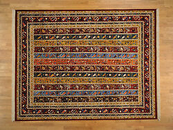 9'x12' Shawl Design Colorful 100% Wool Hand Knotted Oriental Rug G19247
