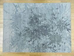 10'x14' Pure Wool Splash Abstract Design HandKnotted Oriental Rug G32571