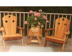 Cedar Country Hearts Adirondack Chair Collection-1245-WRF5100CHSETCVD