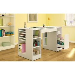 Artist's Craft Table for Jewerly Sewing Adjustable Shelves Supply Storage