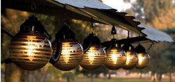 Outdoor Lights Patio Hanging String Globe Party Deck RV 6 Weather Resistant Cord