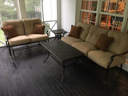 patio furniture - purchased new in March 2013 - wrought iron