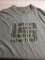 LeBron James # 23 Nike Large gray t shirt with gold green red and blue felt