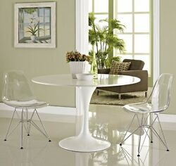 Clear Paris Modern Molded Plastic Dining Chairs With Wire Base Kitchen Indoor