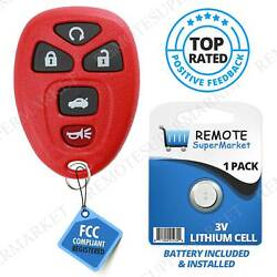 Replacement for 2006-2013 Chevy Impala 06-07 Monte Carlo Remote Key Fob 5b Red $9.69
