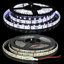 12V 5M 16ft 3528 SMD 300 Flexible LED Strips Strip Light Waterproof Cool White