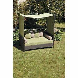Outdoor Daybed Lounger Wicker Patio Sofa Garden Luxury Furniture Day Bed Shade