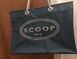 Scoop NYC Vinyl Shopping Tote Peacock Color