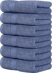6 Pack Premium Large Hand Towels 700 GSM Cotton 16 x 28 Inches Utopia Towels $20.99