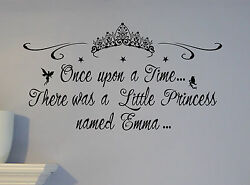 Custom CHILD NAME PERSONALIZED PRINCESS Wall BEDROOM Decal sticker girl crown $14.99