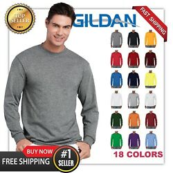 NEW MANS GILDAN LONG Sleeves BLANK t shirt Heavy Cotton Adult casual Tee G5400 $9.89