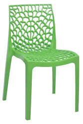 Patio Chairs Indoor Outdoor Set Of 4 Green Stackable Dining Cafe Garden Porch