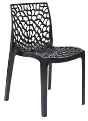 Patio Chairs Indoor Outdoor Set Of 4 Black Stackable Dining Cafe Garden Porch