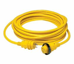 30 Amp Power Cord PLUS Cordset 50 ft yellow in sleeve pack Electrical Lighting
