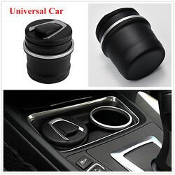 Universal Car Black Fireproof Plastic Ashtray Ash Tray Storage Cup Easy to Clean