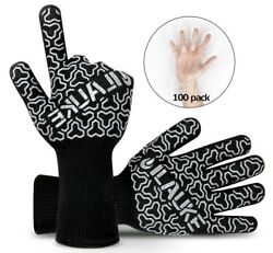 Premium To 500 Degrees Barbecue Grill Gloves Oven Mitts Ilauke Hans Fireplace